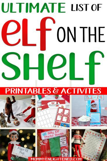 elf on the shelf activity pin