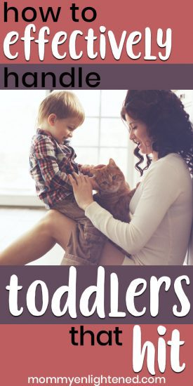 If you have a toddler who has begun hitting, it can certainly be difficult to deal with. A toddler who hits can cause problems in daycare, in the home, and general social situations. Sometimes your child may hit when they are angry and amidst a temper tantrum, but sometimes it's something else entirely. #mommyenlightened #toddlerparenting #toddler #motherhood