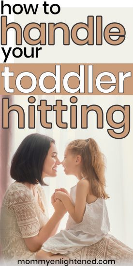 If you have a toddler who hits, it can certainly be difficult to deal with. A toddler who hits can cause problems in daycare, in the home, and general social situations. Sometimes your child may hit when they are angry and amidst a temper tantrum, but sometimes it's something else entirely. #mommyenlightened #toddlerparenting #toddler #motherhood