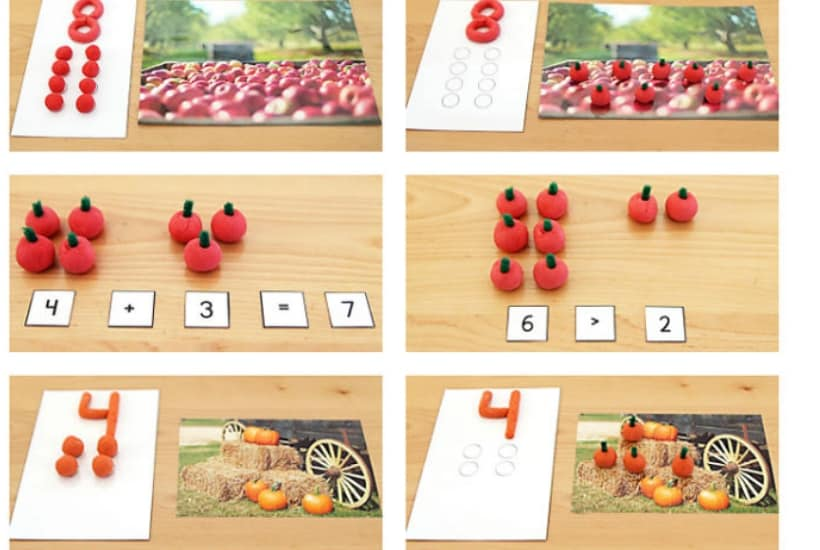 math play dough activity