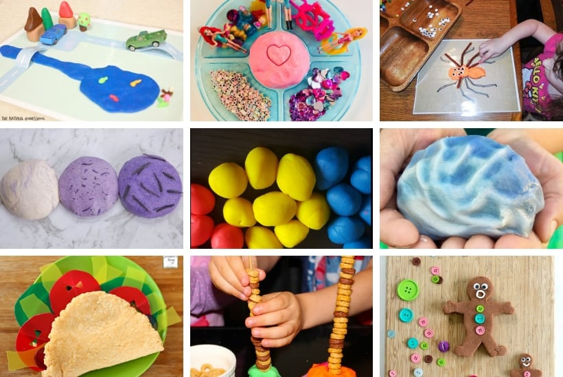 play dough activities for toddlers