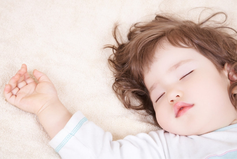 pic of sleeping toddler who keeps getting out of bed in the middle of the night