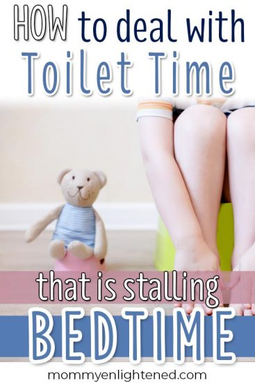 Is your toddler stalling bedtime with the potty? This can be difficult for moms and dads to know - especially when it is occurring during potty training! Here's some advice from a mom who talked with her therapist after dealing with the same thing. #toddler #toddlermom #pottytraining