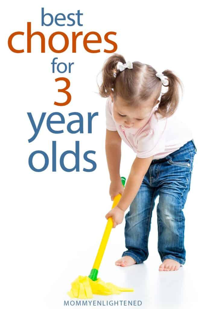 three year old chores pinterest pin