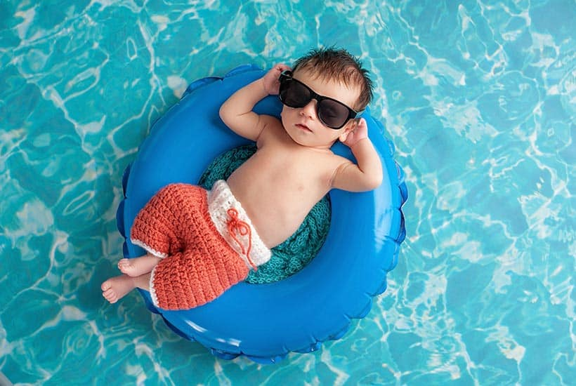 picture of baby swimming with a unisex name