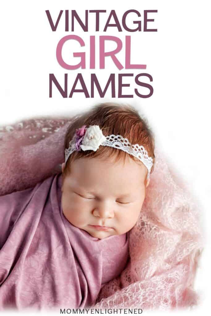 vintage baby girl name pinterest pin