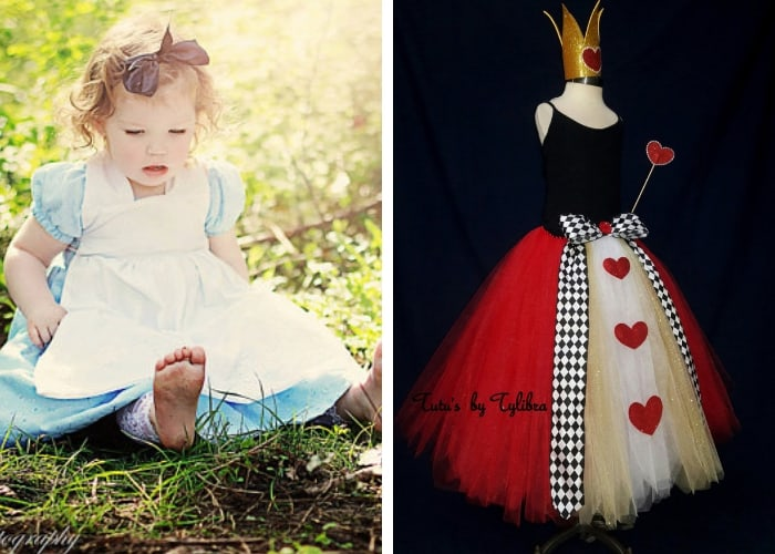 queen of hearts and alice mom and baby costume