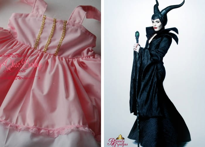 maleficent and sleeping beauty mom and baby costume