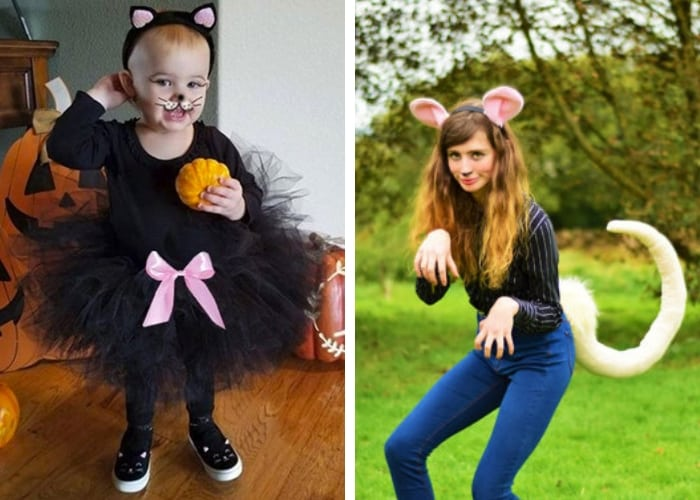 cat and mouse mom and baby costume