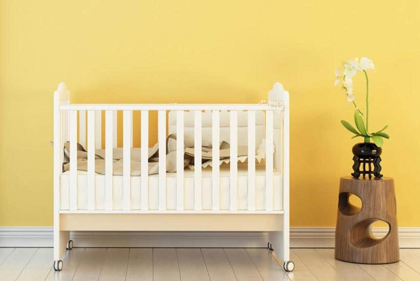 picture of yellow nursery with essentials