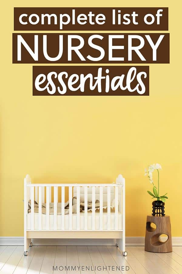 nursery essentials pinterest pin