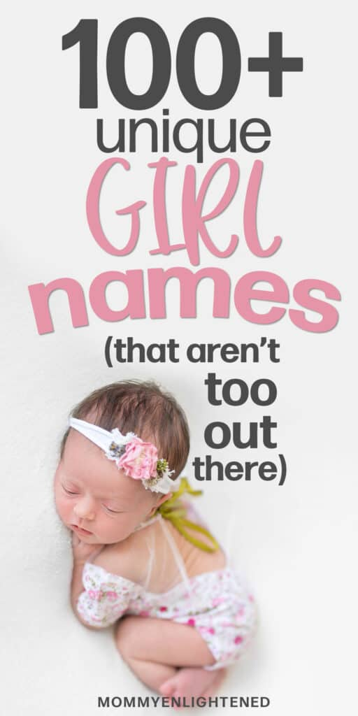 unique girl names pinterest pin