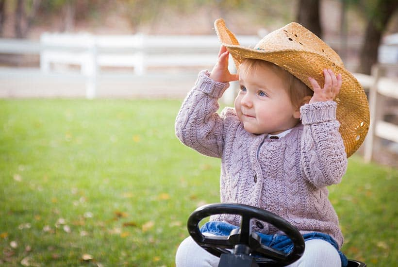 a picture of a country western baby