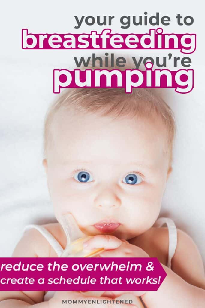 breastfeeding and pumping pinterest pin
