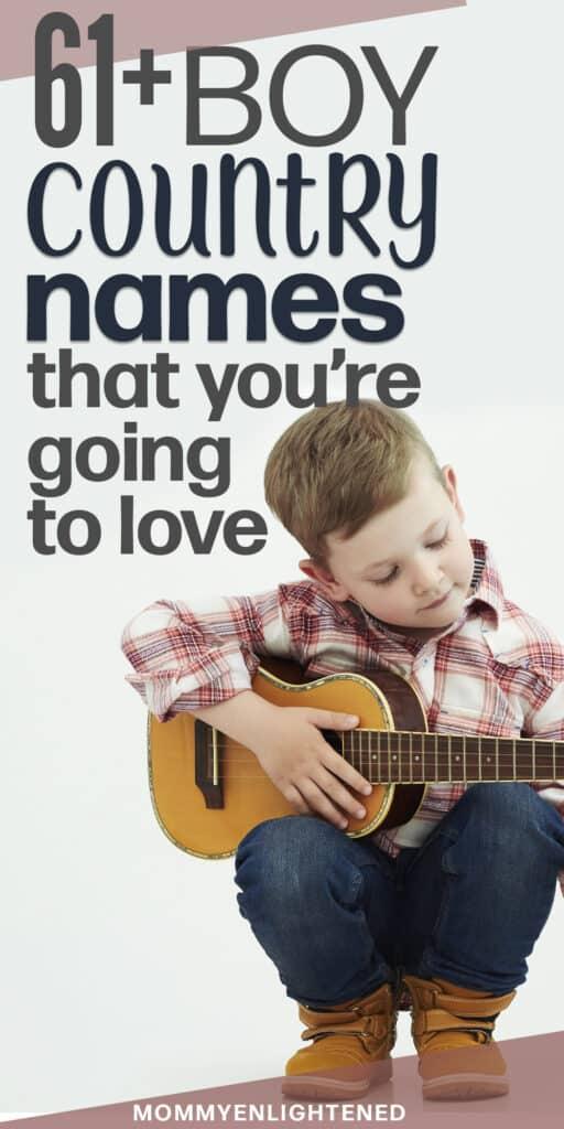 Western boy playing guitar pinterest pin