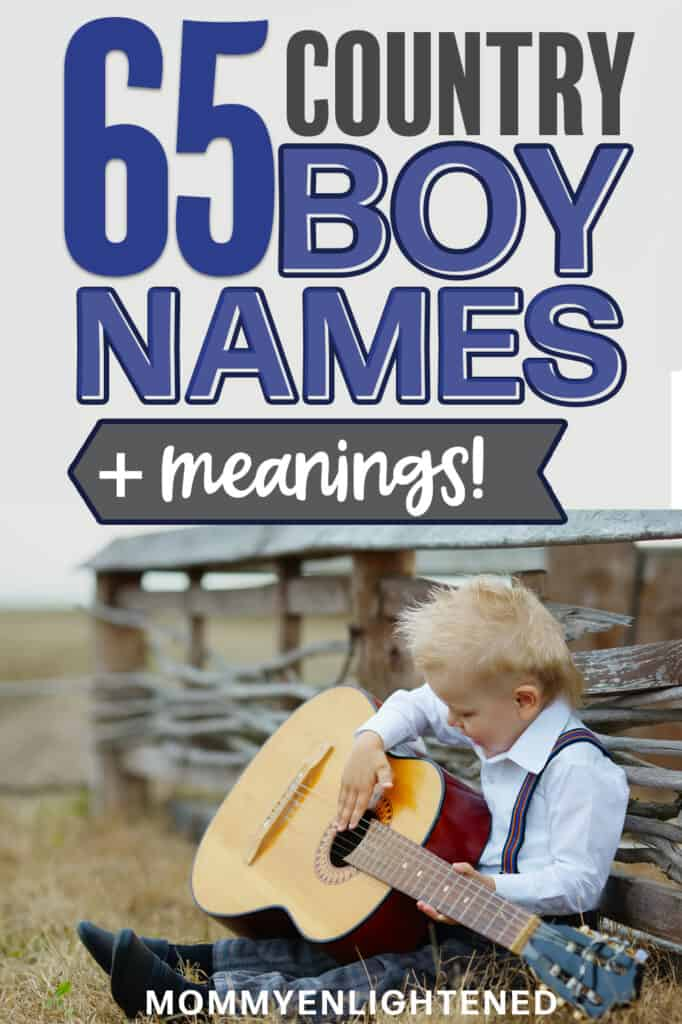 Pinterest pin with picture of country boy playing guitar