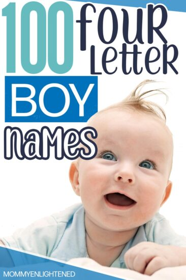 picture of smiling baby boy with a four letter name