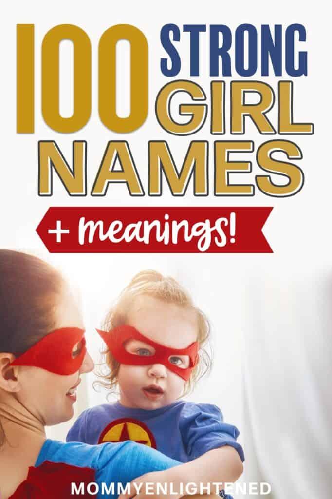 strong girl names pinterest pin