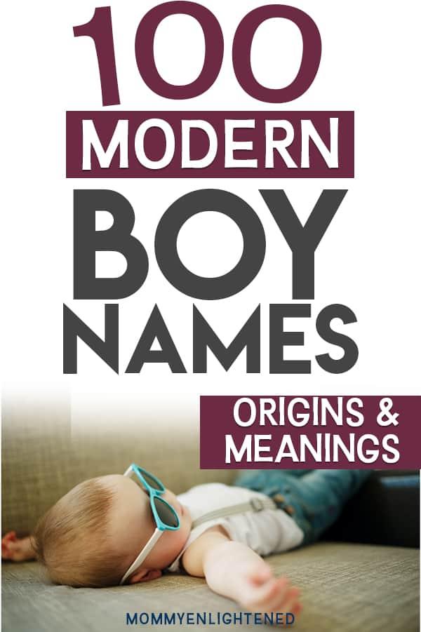 modern boy names pinterest pin