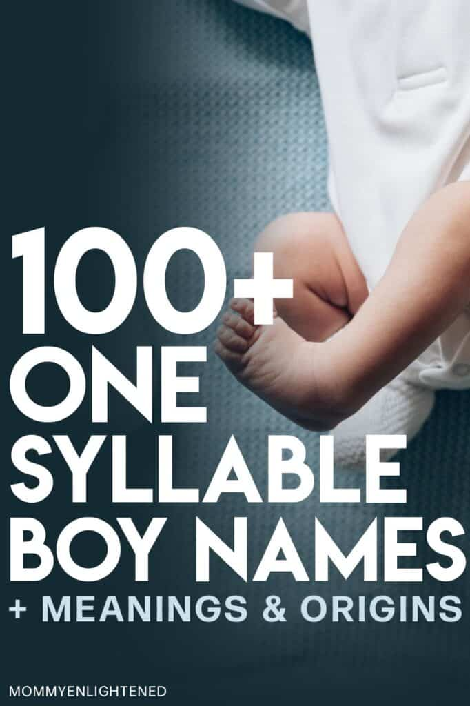 pinterest pin that says one syllable boy names