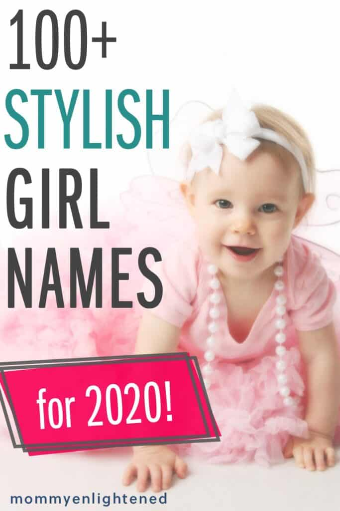 pinterest pin that says stylish girl names